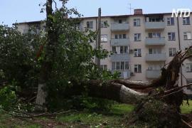 В Грозном устраняют последствия урагана