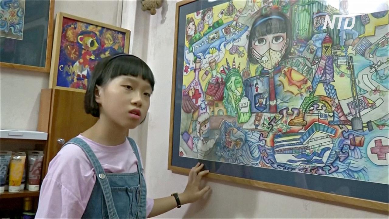 Рисунки о пандемии: вьетнамская девочка три месяца карантина писала картины