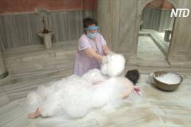 Пена и маски: как теперь моются в турецких банях в Стамбуле