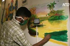 Карантинное вдохновение: индийские брат и сестра разрисовали свой дом