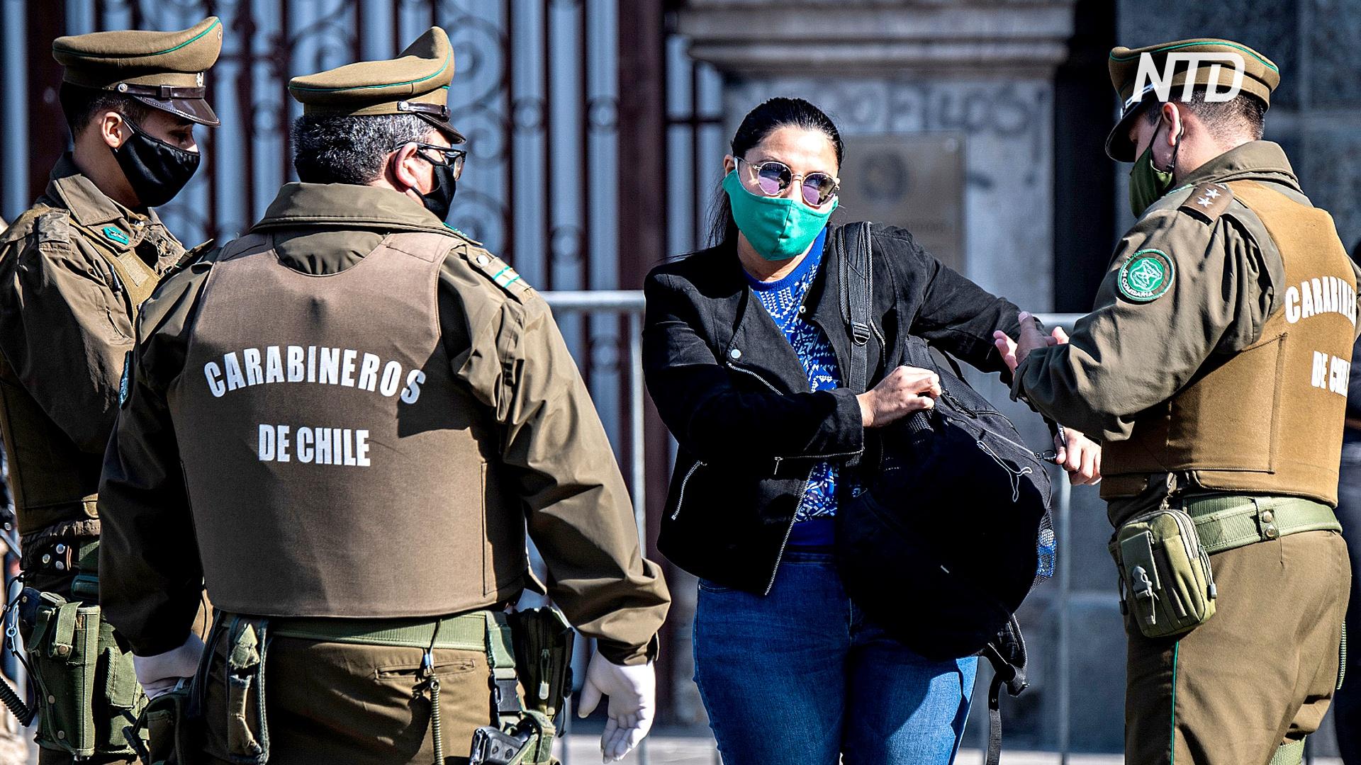 До пяти лет тюрьмы: в Чили ужесточили наказание за нарушение карантина