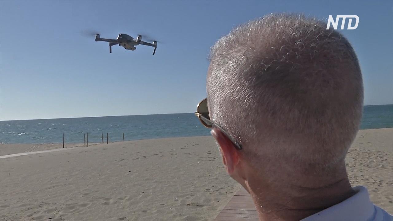 Технологии обеспечивают дезинфекцию и дистанцию на пляжах Испании