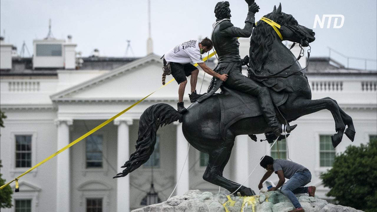 Дональд Трамп пригрозил длительными сроками заключения за вандализм памятников
