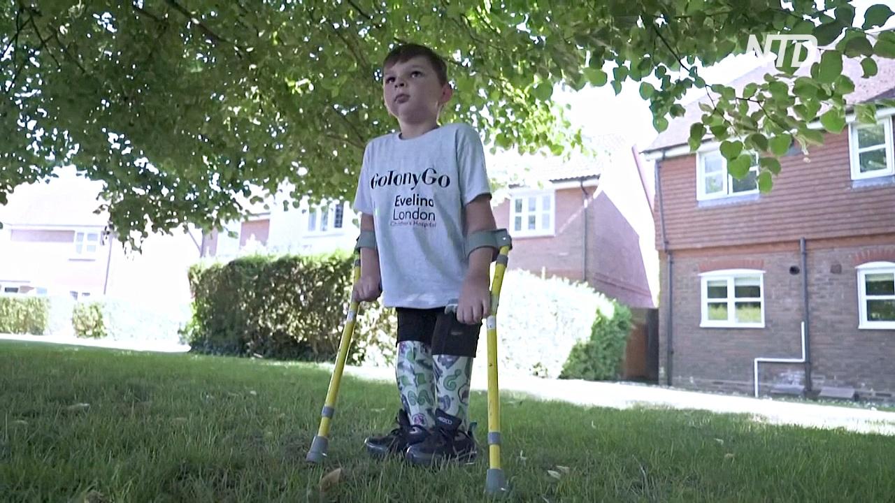 Благотворительность на протезах: 5-летний британец собрал 1,2 млн долларов