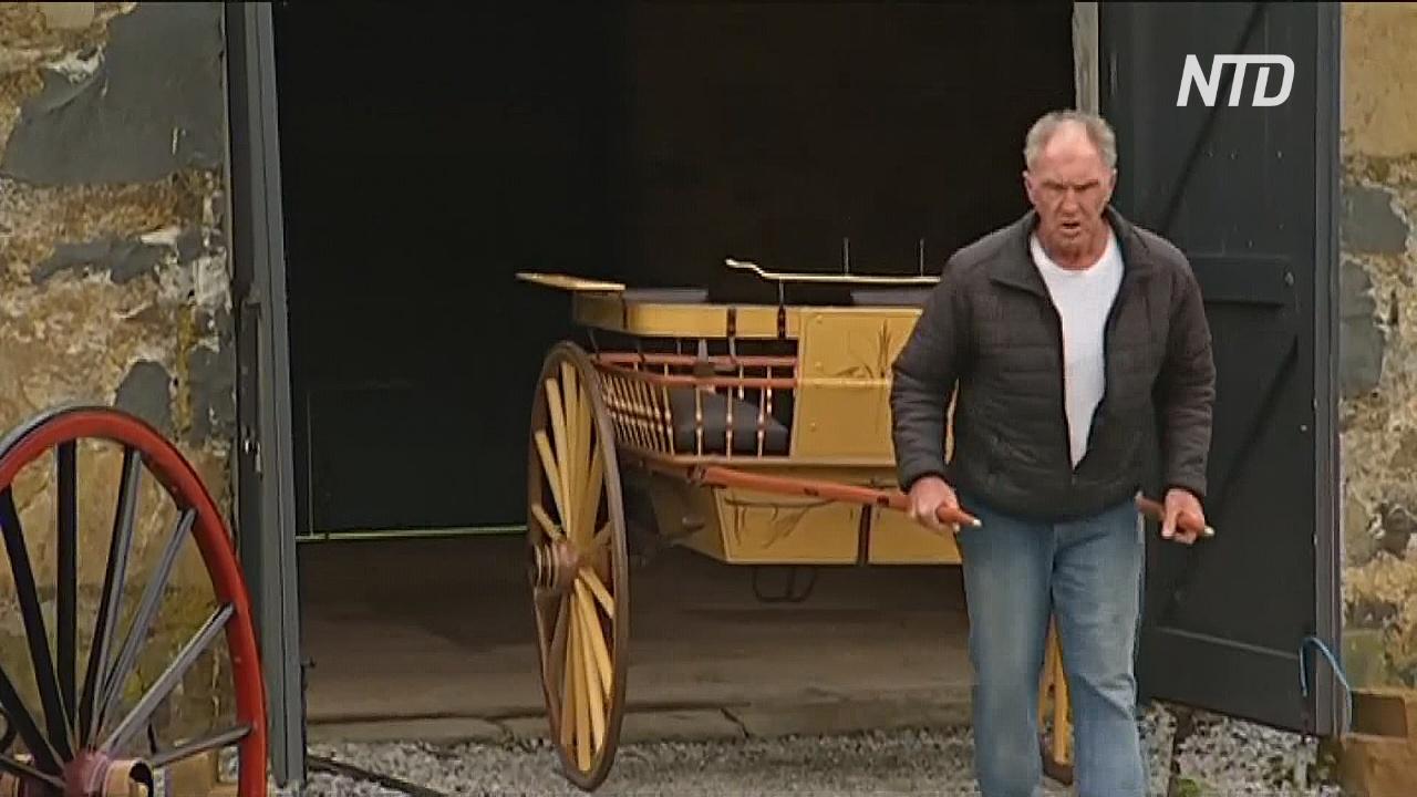 Австралиец восстанавливает старинные повозки, чтобы сохранить историю Тасмании