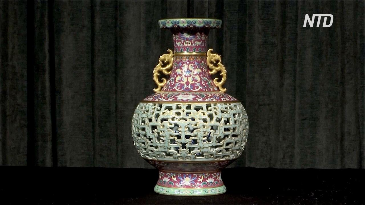 Некогда утерянную китайскую вазу продадут на аукционе за миллионы долларов