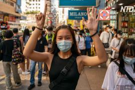 В Гонконге прошёл молчаливый протест против закона о нацбезопасности