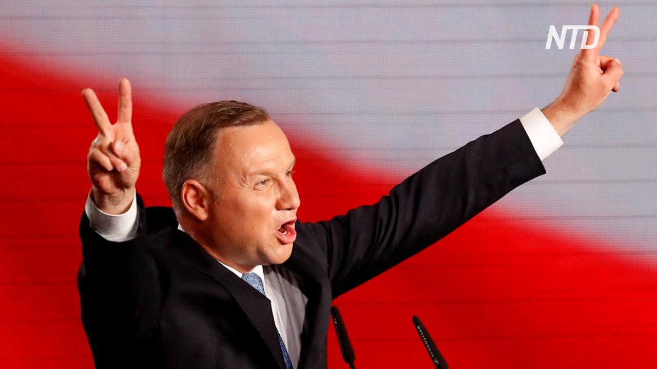 Глава Польши Анджей Дуда лидирует в первом туре президентских выборов
