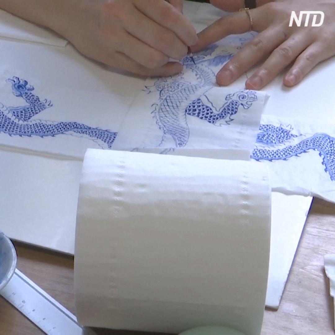 Что общего между туалетной бумагой и китайской росписью на фарфоре