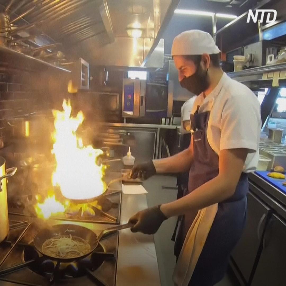 Колумбийский изысканный ресторан готовит еду для малоимущих