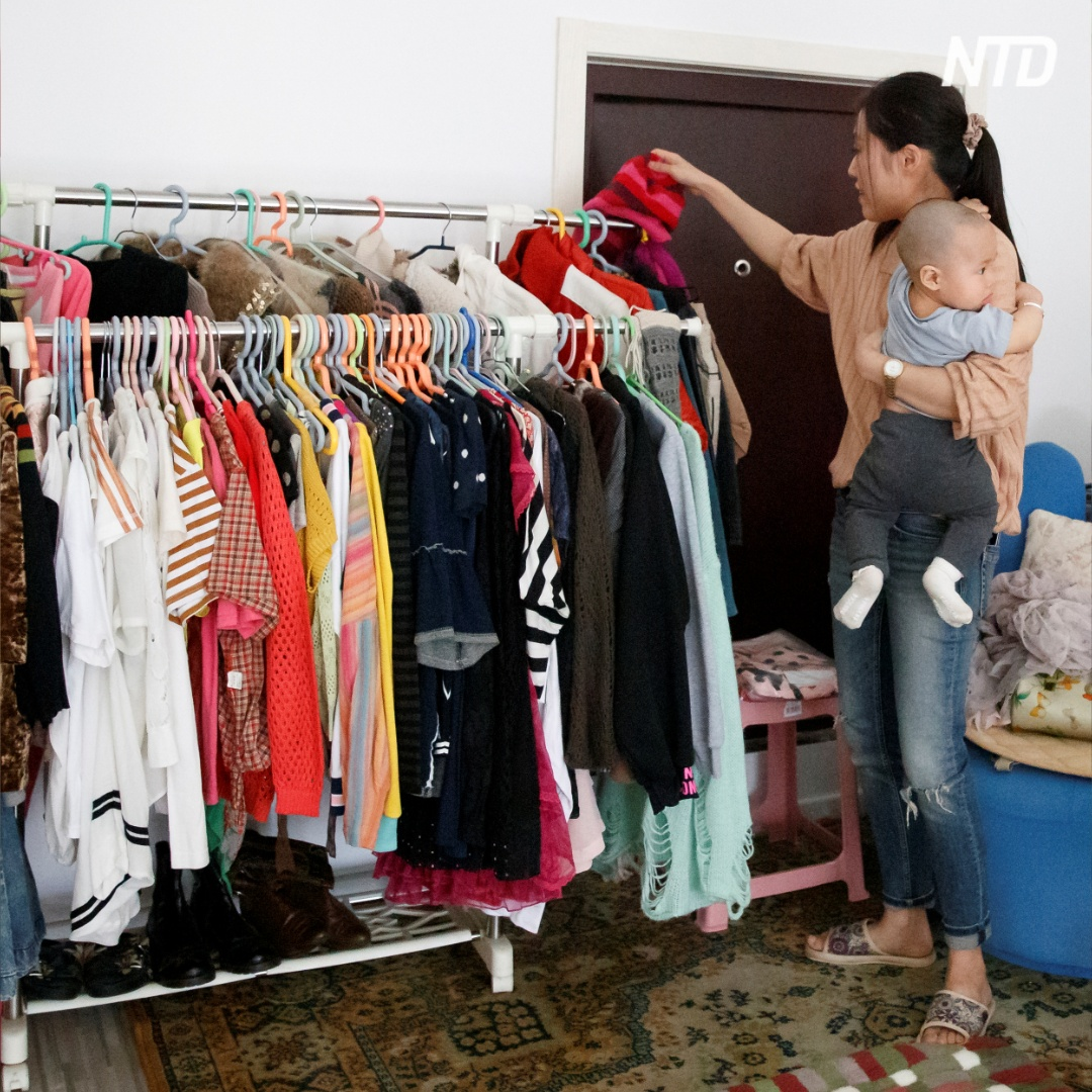 Китаянка-шопоголик решила разгрузить свои шкафы