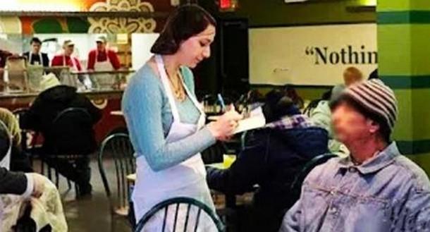 Какую проверку клиент устроил официантке