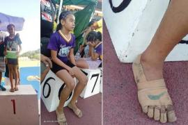 Из чего сделаны кроссовки Nike, в которых девочка одержала три победы