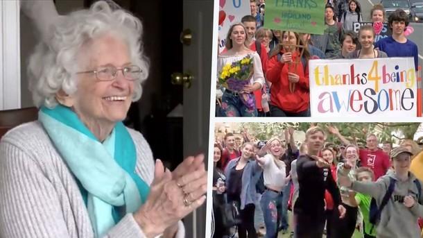 Зачем 400 подростков пришли к дому 88-летней женщины