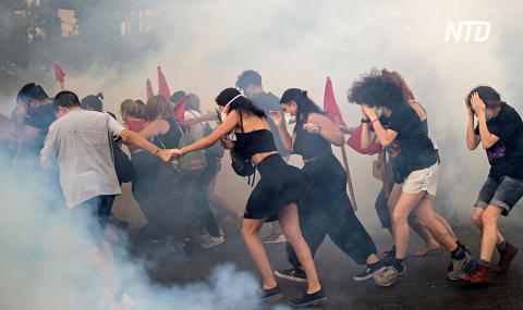 Протесты против закона о протестах: у парламента Греции применили слезоточивый газ