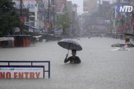 Наводнения вызвали хаос в Индии и Китае