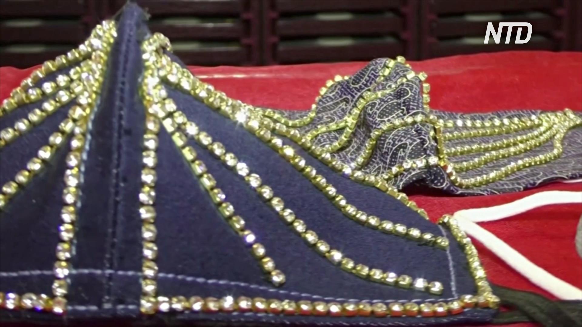 Роскошь и безопасность: ювелиры в Индии украшают маски бриллиантами