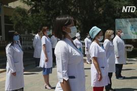 Казахские медики почтили минутой молчания память коллег, умерших от COVID-19