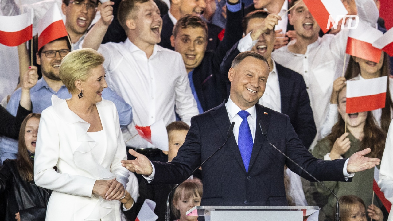 Президента Польши Анджея Дуду переизбрали на новый пятилетний срок