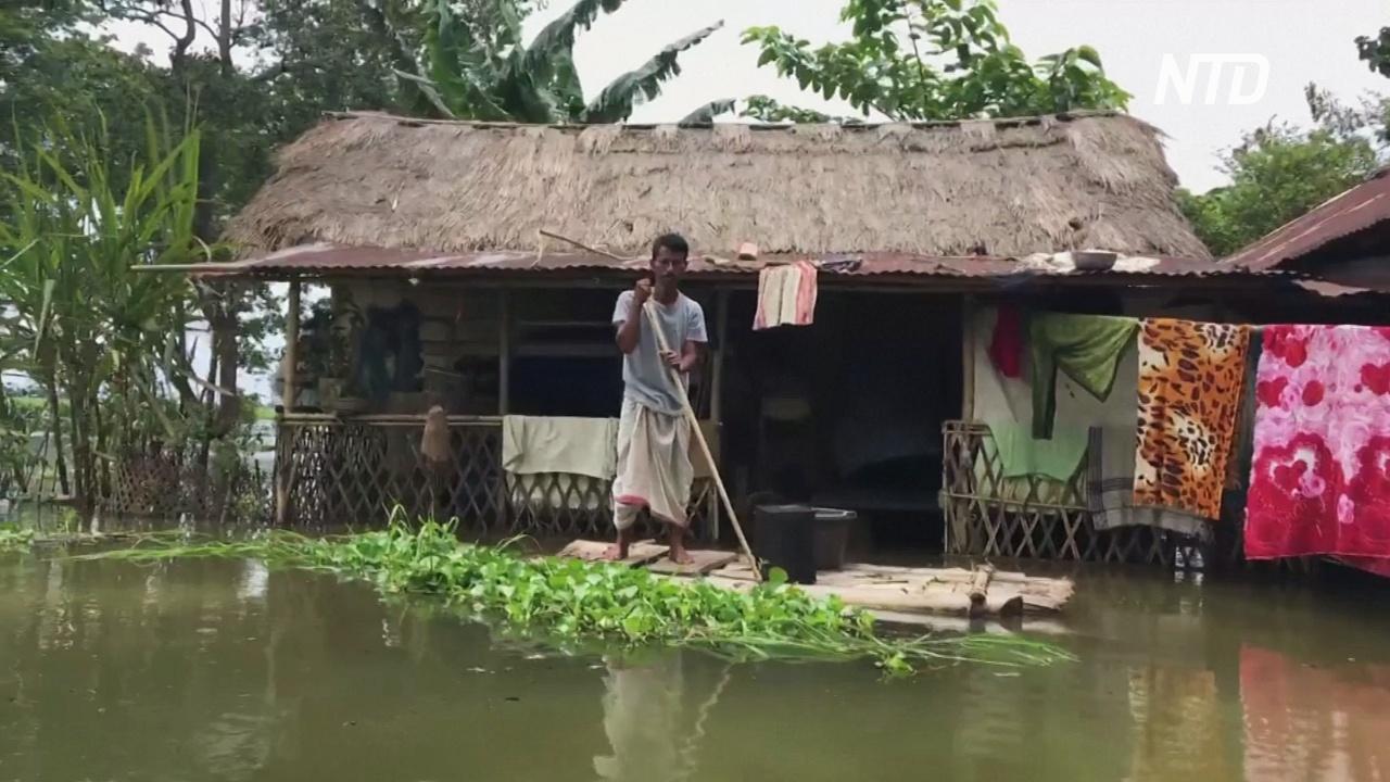 4 млн человек покинули свои дома из-за наводнений в Индии и Непале