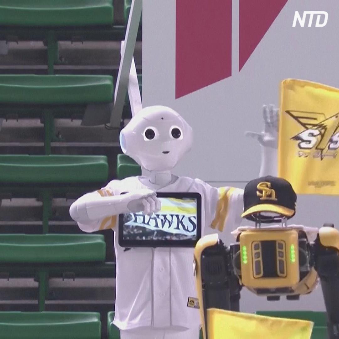 В Японии бейсбольных болельщиков заменили танцующими роботами
