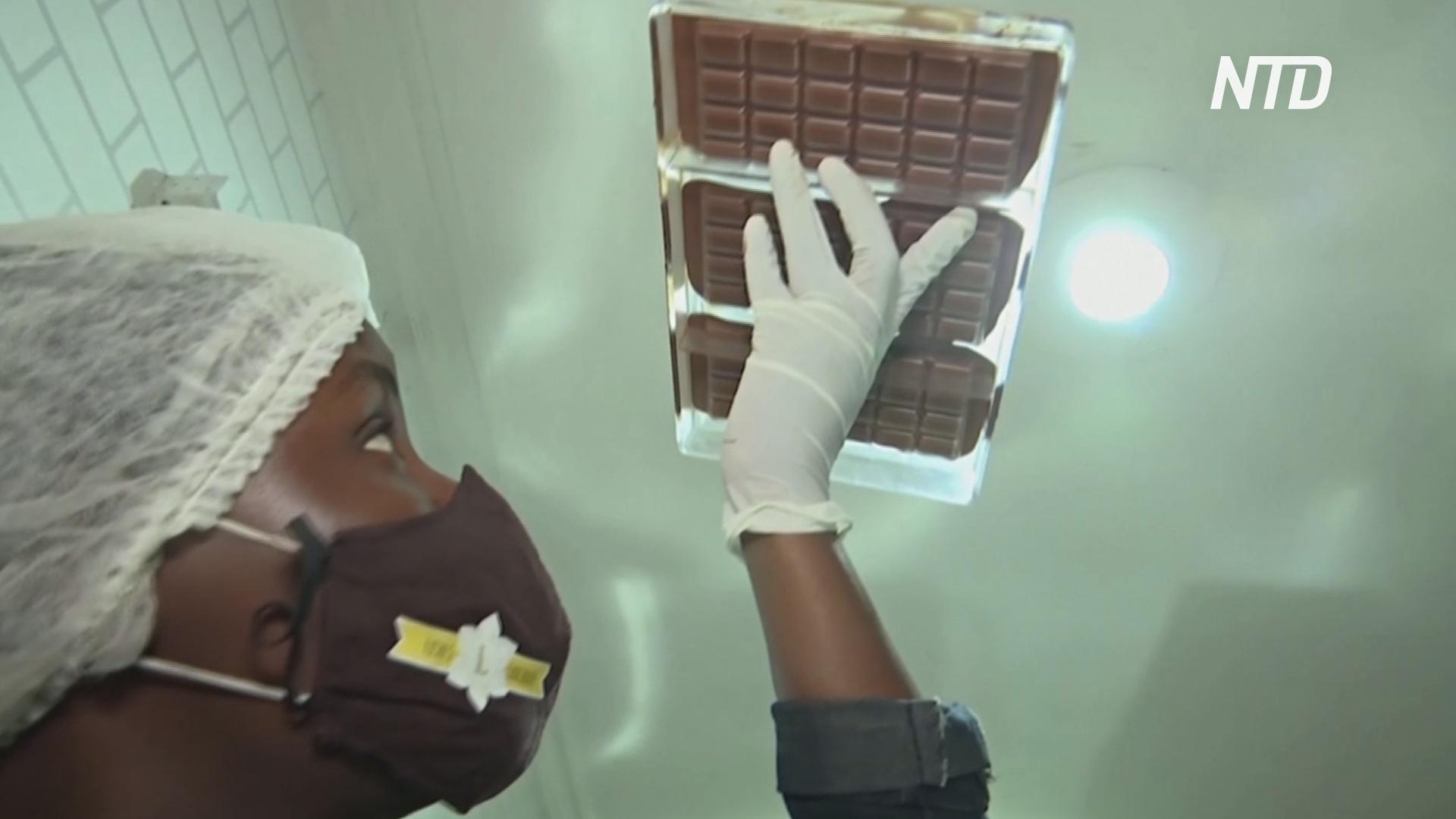 Нигерийка делает качественный шоколад, конкурируя с импортом