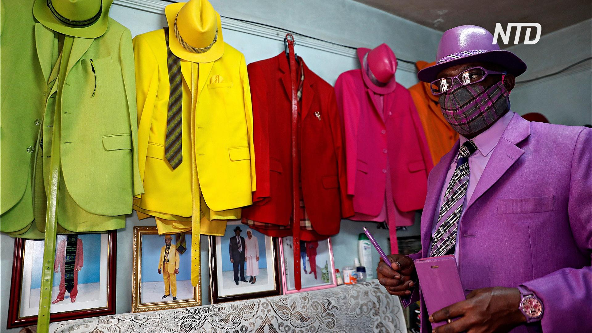 Кенийский модник помогает беспризорным детям во время пандемии