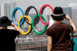 Монумент в виде олимпийских колец временно убрали из Токийского залива