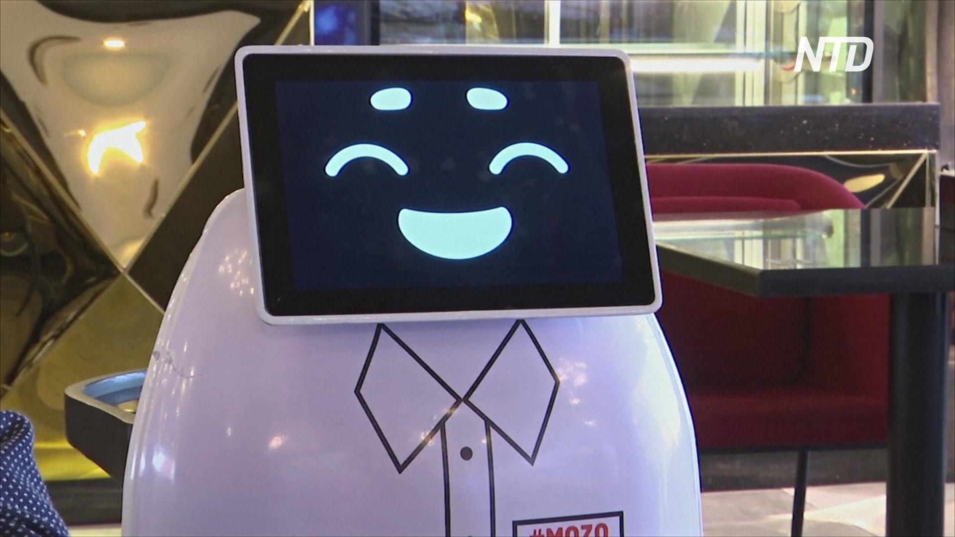 Первый в Египте робот-официант помогает соблюдать социальную дистанцию