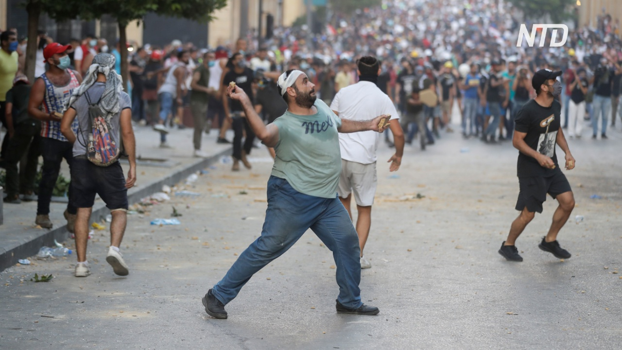 После взрыва в Бейруте вспыхнули антиправительственные протесты