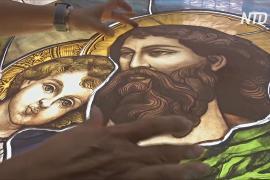 Ливанская художница восстановит витражи Бейрута, которые уже когда-то восстанавливала