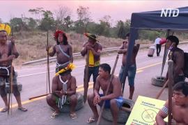 В Бразилии индейцы перекрыли автомагистраль