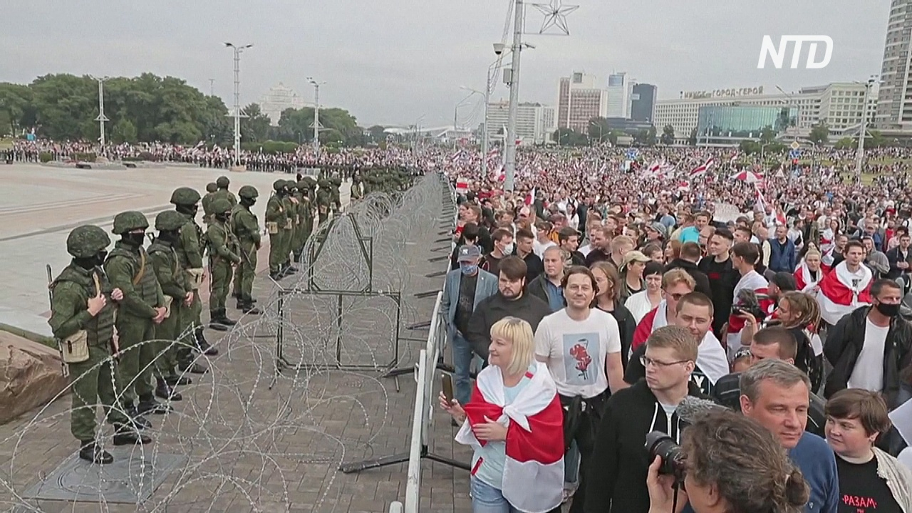 Протесты в Беларуси проходят относительно мирно