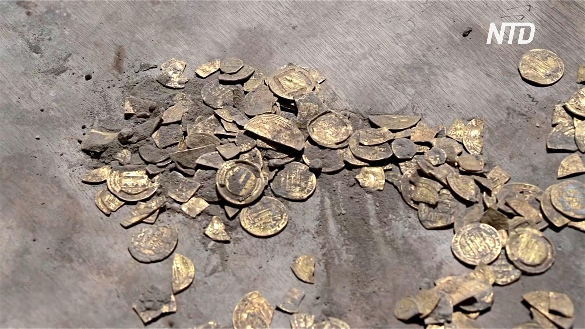 В Израиле волонтёры-археологи нашли клад древних золотых монет
