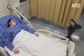 В Мексике «умный» робот помогает лечить больных коронавирусом