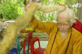 Вьетнамец отрастил 5-метровую косу