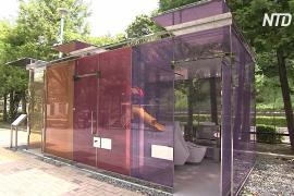 Прозрачные туалеты установили в Токио для чистоты и безопасности