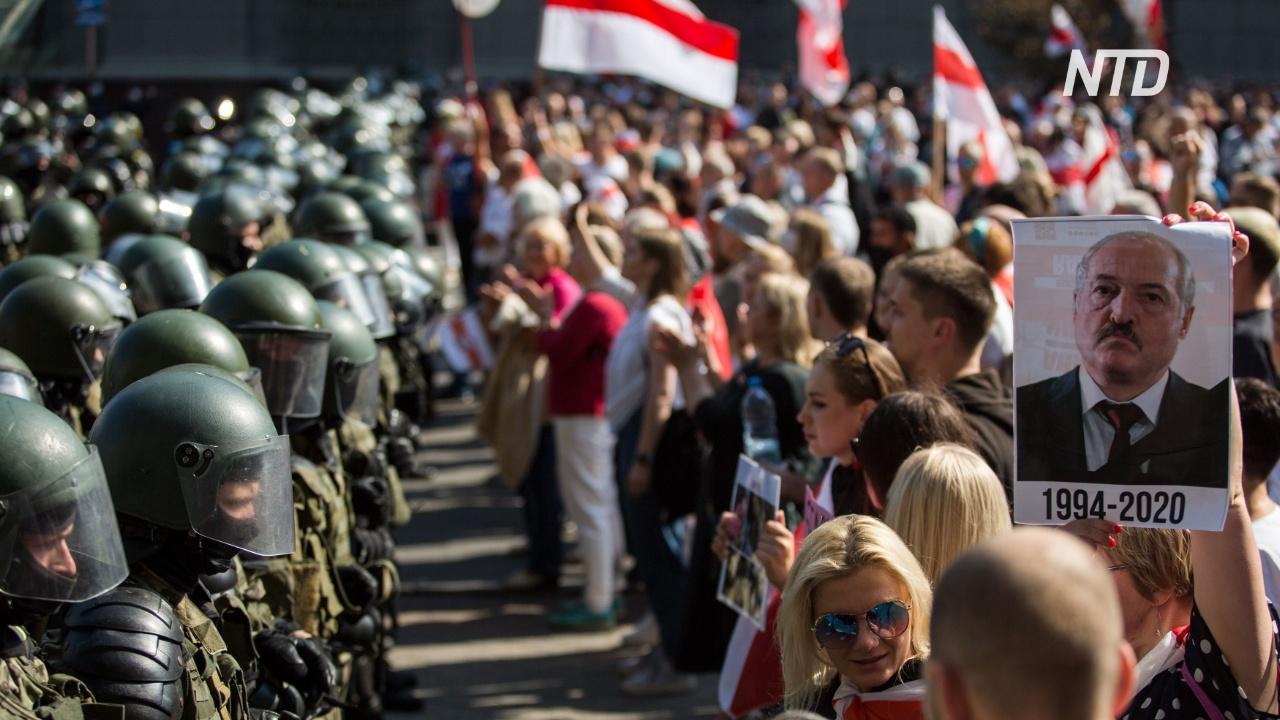 В день рождения Лукашенко на улицы Минска снова вышли десятки тысяч человек