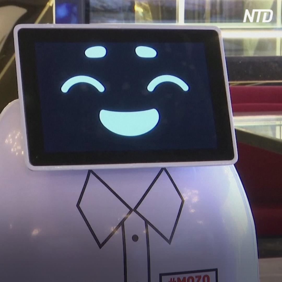 Первый египетский робот-официант работает в Каире