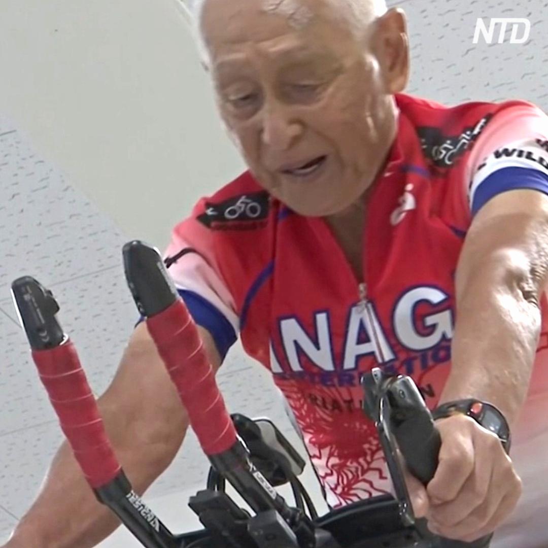 87-летний японский дедушка снова готовится к триатлону Ironman