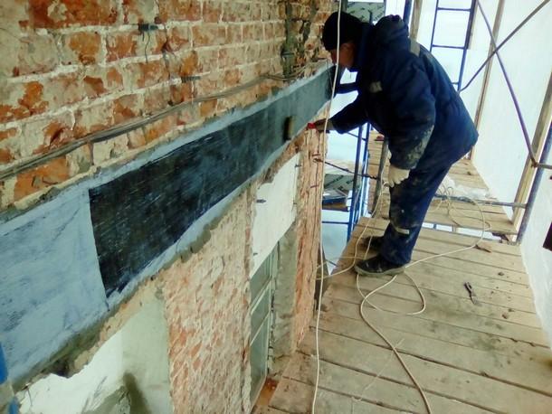 Усиление стен углеволокном