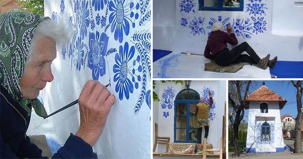 Что рисует на стенах 90-летняя бабушка из Чехии