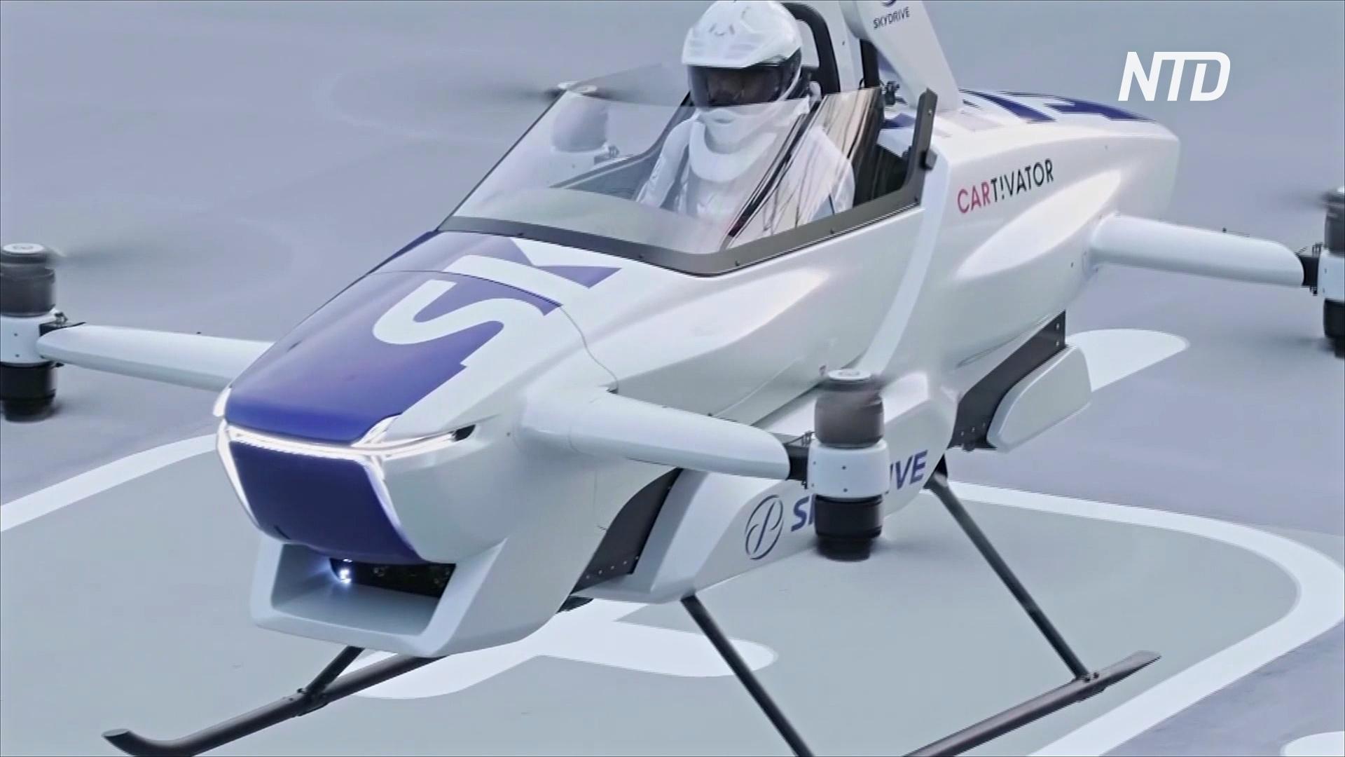 Японский стартап впервые испытал летающее авто с человеком на борту