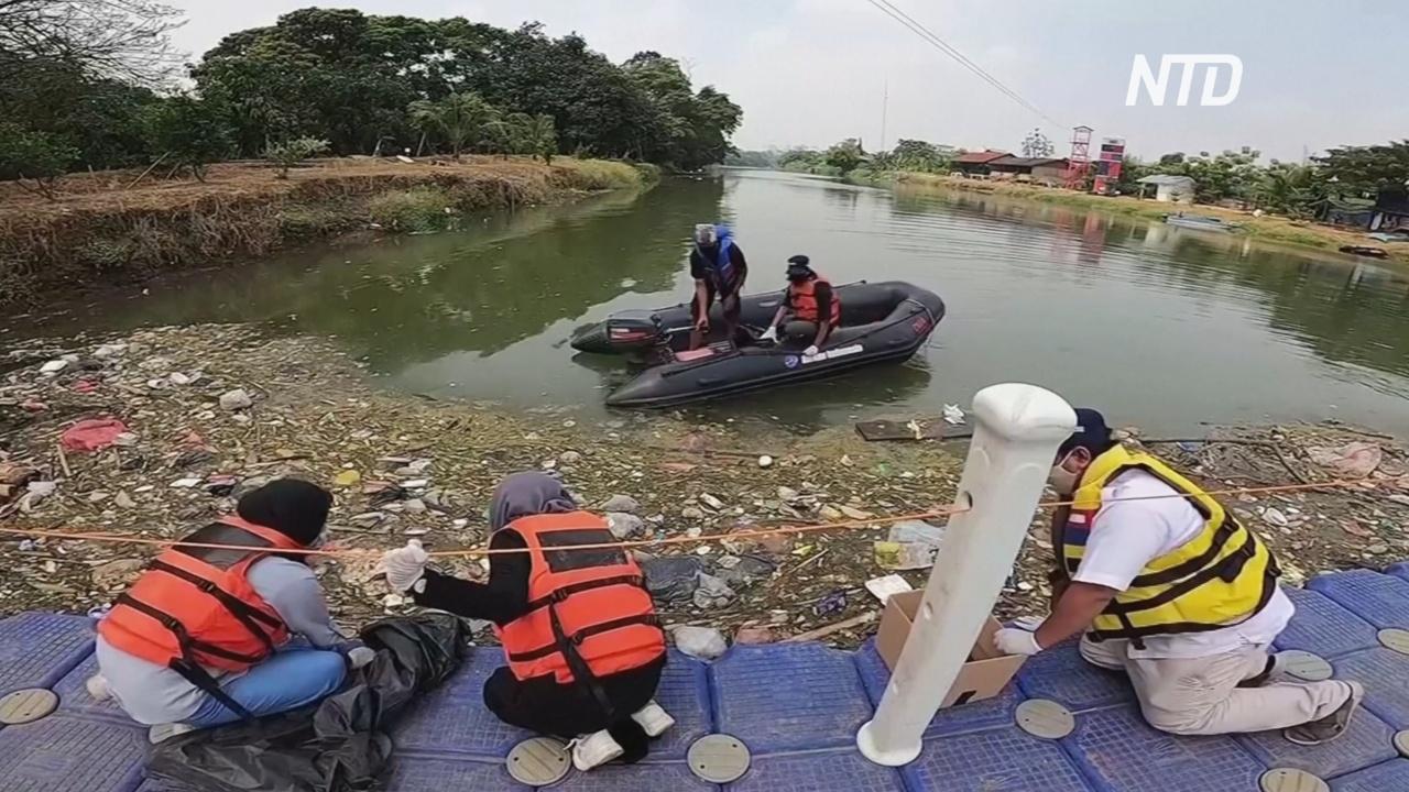 В индонезийскую реку попали медицинские отходы из коронавирусных отделений