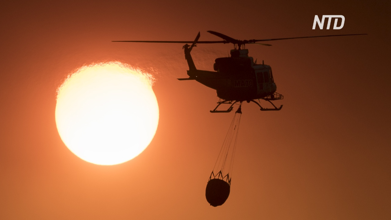 На юге Испании лесной пожар угрожает жилым домам
