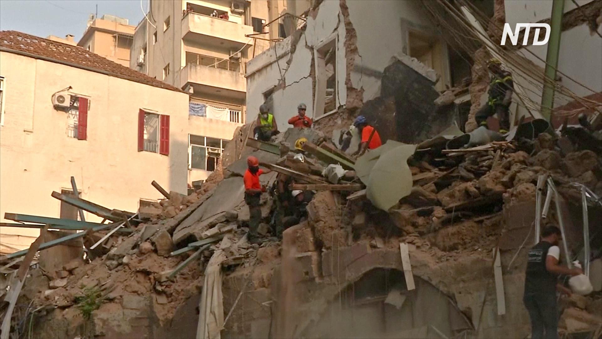 Под руинами в Бейруте, возможно, находится живой человек