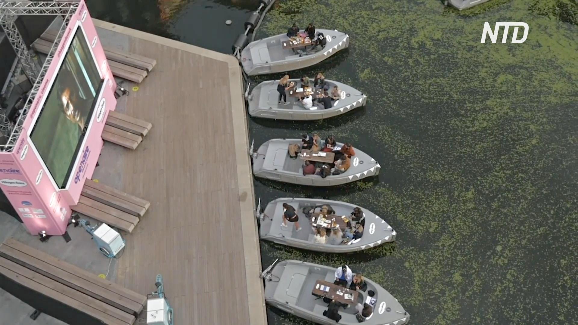 На Риджентс-канале в Лондоне работает кинотеатр на воде
