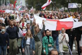 Десятки тысяч человек снова вышли на протест в Минске несмотря на предупреждение властей