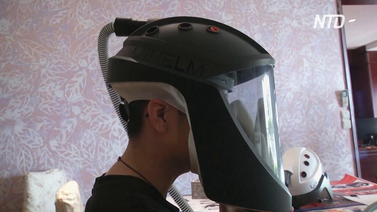 И поесть, и нос почесать: вьетнамские школьники изобрели шлем для защиты от коронавируса