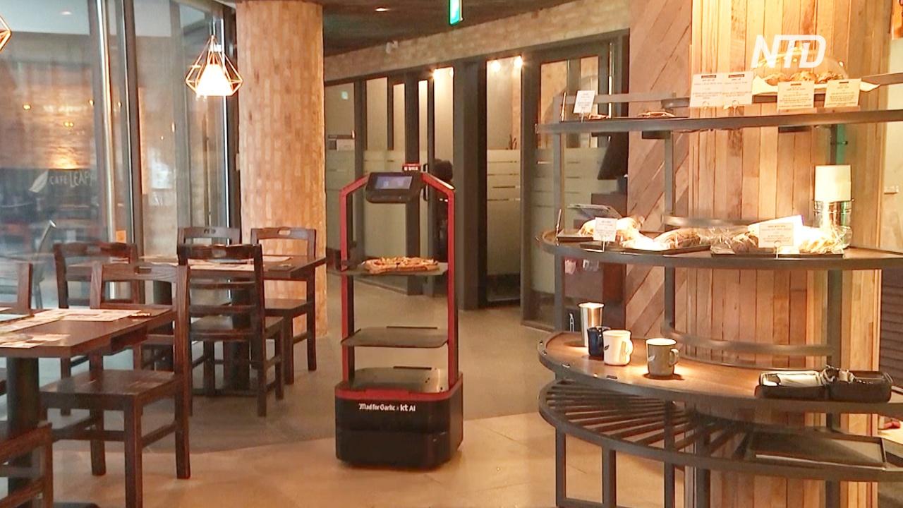 В ресторанах Южной Кореи обслуживают роботы